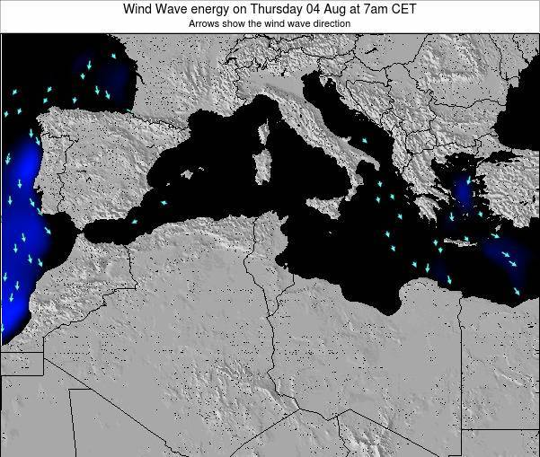 Algeria Wind Wave energy on Friday 25 Aug at 1pm CET