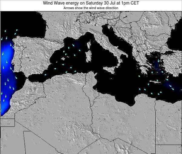 Algeria Wind Wave energy on Wednesday 06 Aug at 1pm CET
