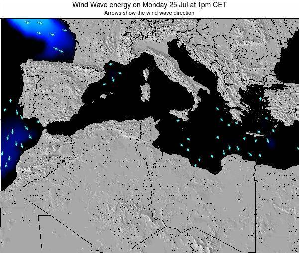Algeria Wind Wave energy on Tuesday 10 Dec at 7am CET