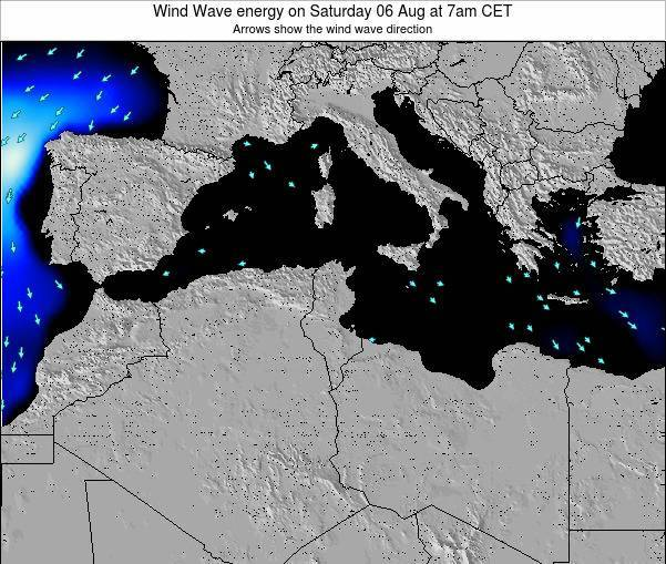 Algeria Wind Wave energy on Saturday 19 Apr at 1pm CET