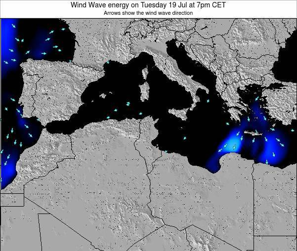 Algeria Wind Wave energy on Monday 04 Aug at 7am CET