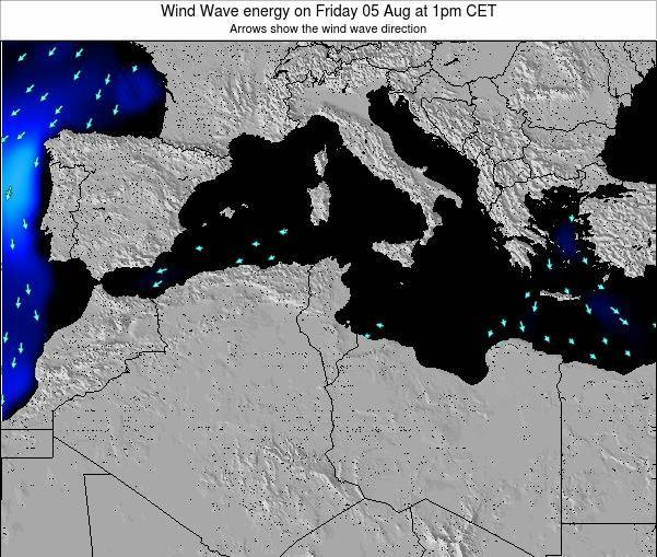 Algeria Wind Wave energy on Sunday 24 May at 1pm CET
