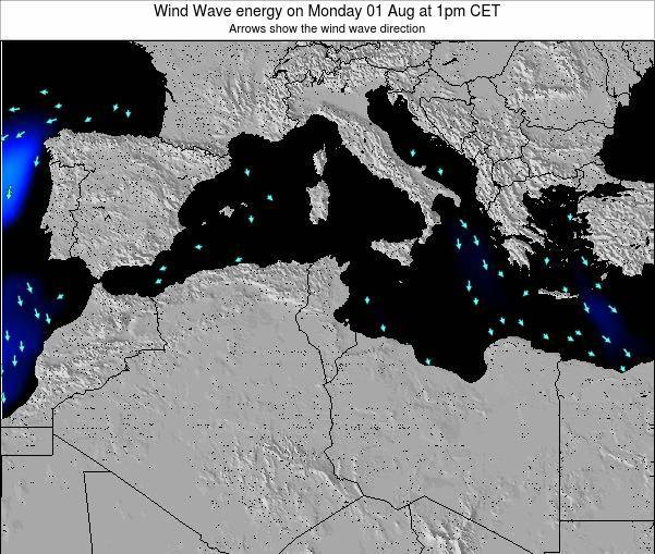 Algeria Wind Wave energy on Sunday 20 Apr at 1am CET
