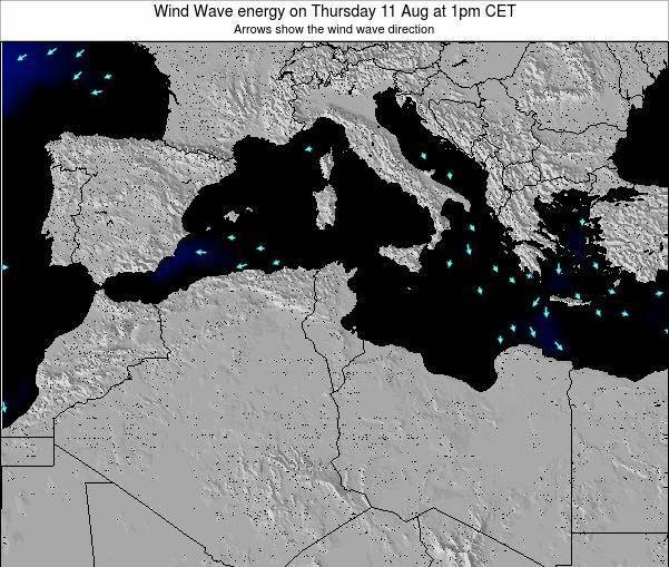 Algeria Wind Wave energy on Tuesday 28 May at 7am CET