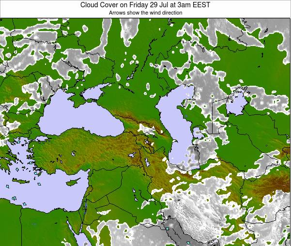Cyprus Cloud Cover on Monday 27 May at 9pm EEST