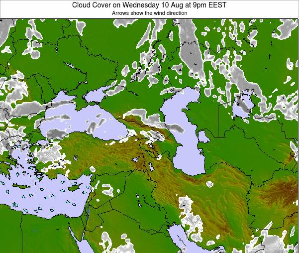 Turkey Cloud Cover on Wednesday 29 May at 9am EEST map
