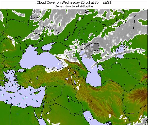 Cyprus Cloud Cover on Thursday 30 May at 3pm EEST