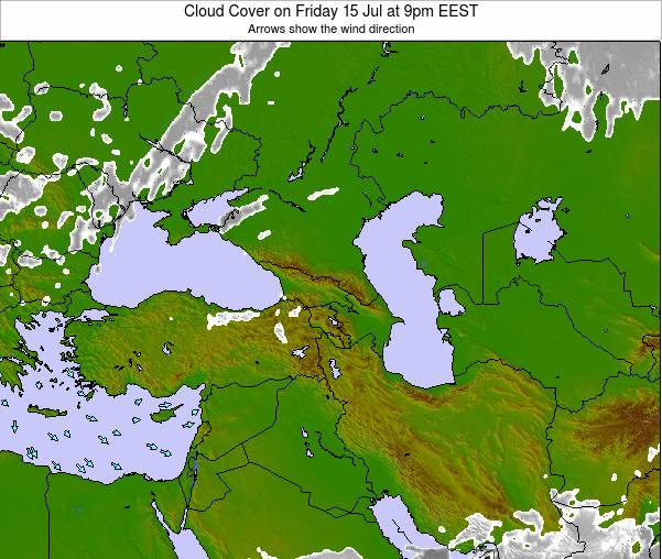 Turkey Cloud Cover on Monday 20 May at 3pm EEST map
