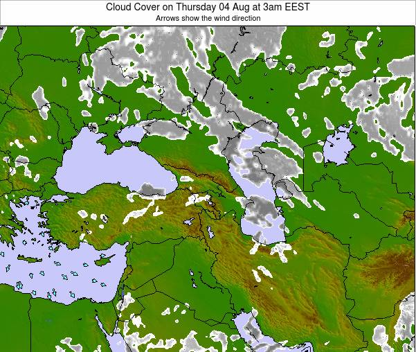 Turkey Cloud Cover on Monday 20 May at 9am EEST map