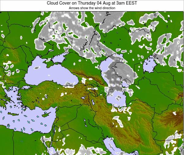 Turkey Cloud Cover on Wednesday 22 May at 9am EEST map
