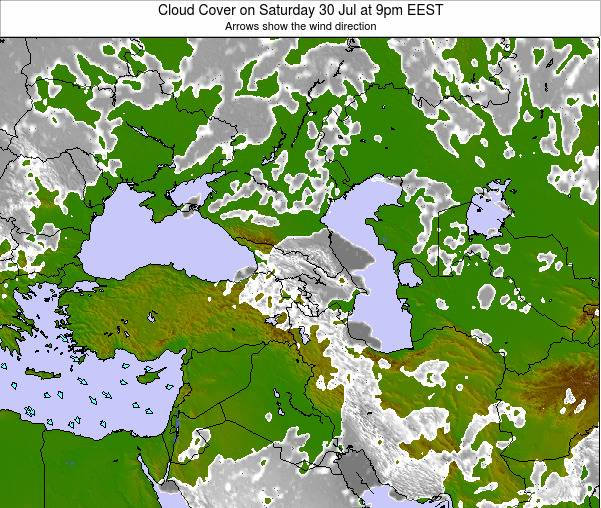 Cyprus Cloud Cover on Thursday 23 May at 3pm EEST
