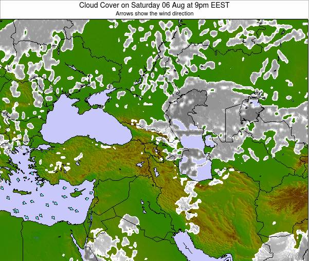Cyprus Cloud Cover on Monday 27 May at 3pm EEST