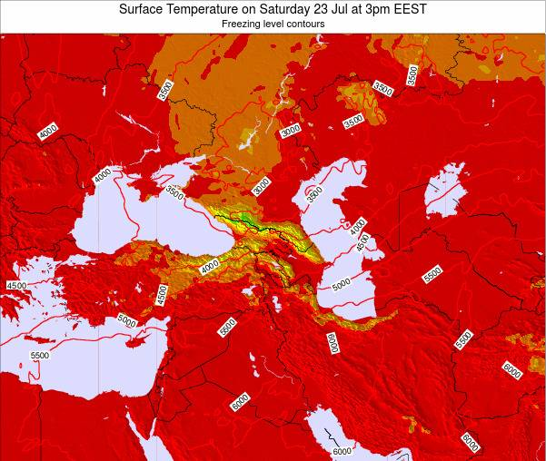 Turkey Surface Temperature on Thursday 30 May at 3am EEST map