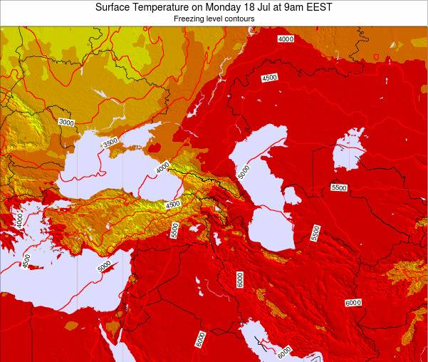 Turkey Surface Temperature on Tuesday 22 Apr at 3pm EEST map