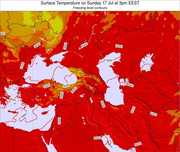Turkey Surface Temperature on Tuesday 21 May at 3am EEST map