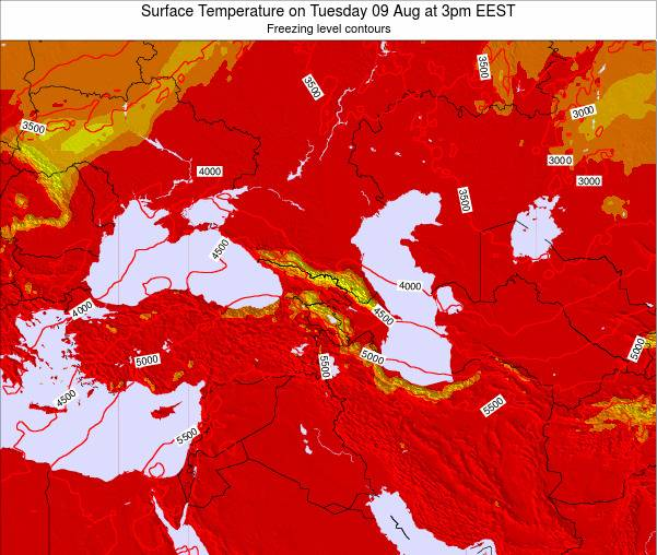 Turkey Surface Temperature on Friday 24 May at 9pm EEST map