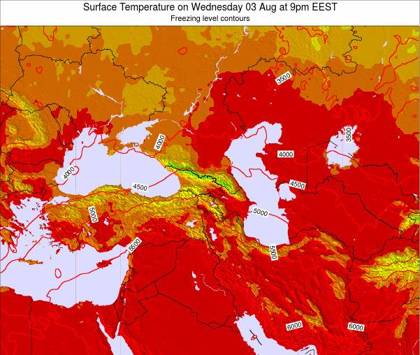 Turkey Surface Temperature on Friday 24 May at 3am EEST map