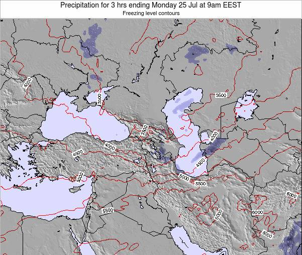 Turkey Precipitation for 3 hrs ending Thursday 23 May at 9am EEST map