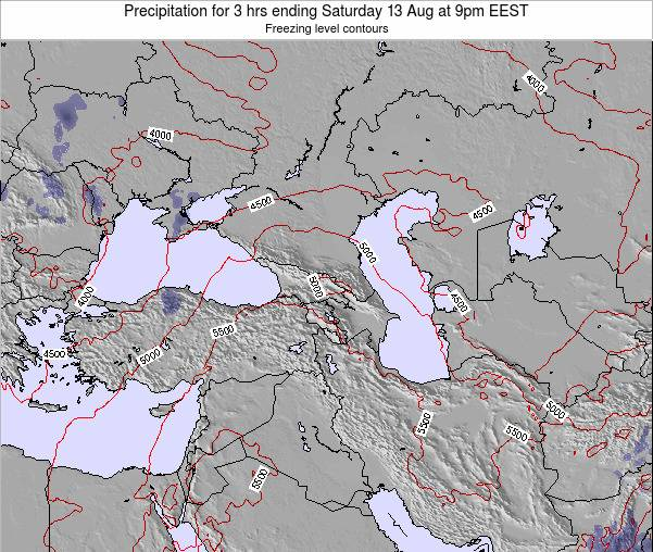 Turkey Precipitation for 3 hrs ending Friday 24 May at 9am EEST map