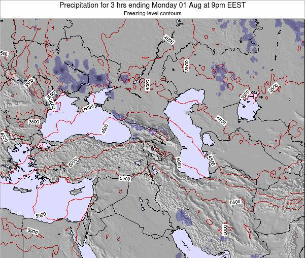Turkey Precipitation for 3 hrs ending Friday 24 May at 9pm EEST map