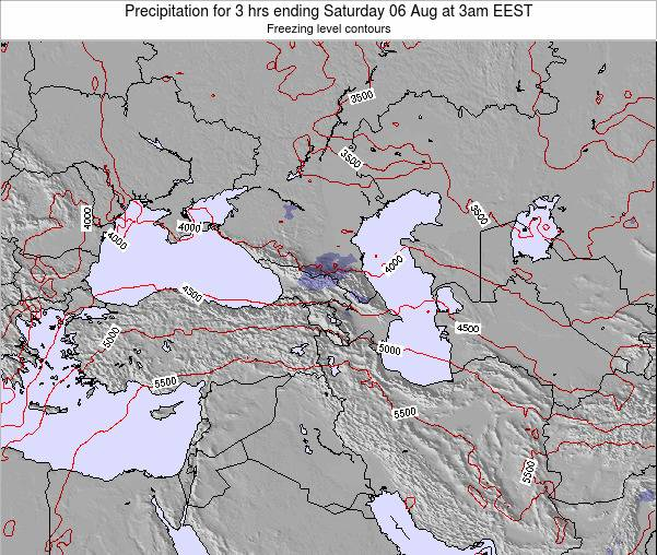 Turkey Precipitation for 3 hrs ending Friday 24 May at 3pm EEST