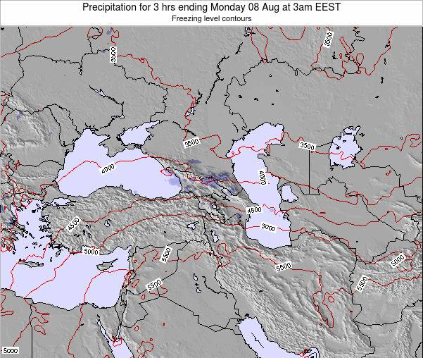 Cyprus Precipitation for 3 hrs ending Wednesday 22 May at 9am EEST