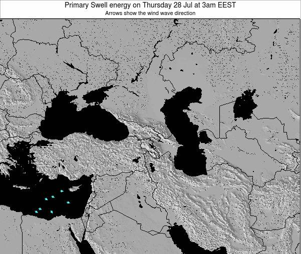 Turkey Primary Swell energy on Friday 24 May at 9am EEST