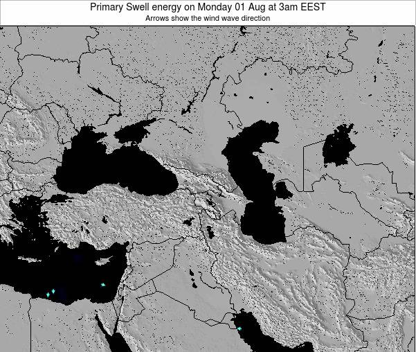 Turkey Primary Swell energy on Thursday 24 Apr at 3pm EEST