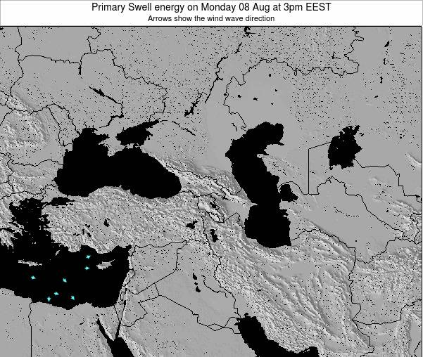 Turkey Primary Swell energy on Saturday 19 Apr at 9am EEST