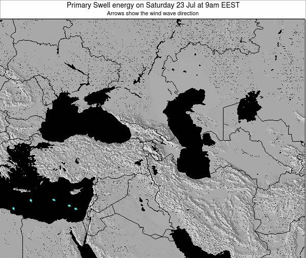Turkey Primary Swell energy on Wednesday 22 May at 9am EEST
