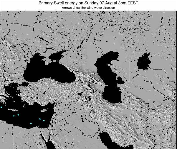 Turkey Primary Swell energy on Thursday 24 Jul at 3pm EEST
