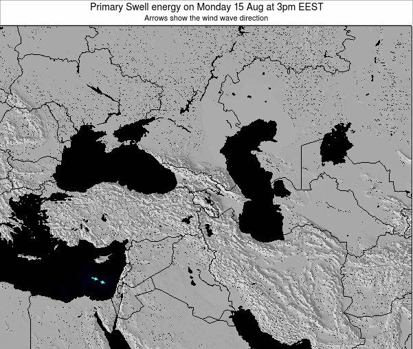 Turkey Primary Swell energy on Saturday 25 May at 3am EEST
