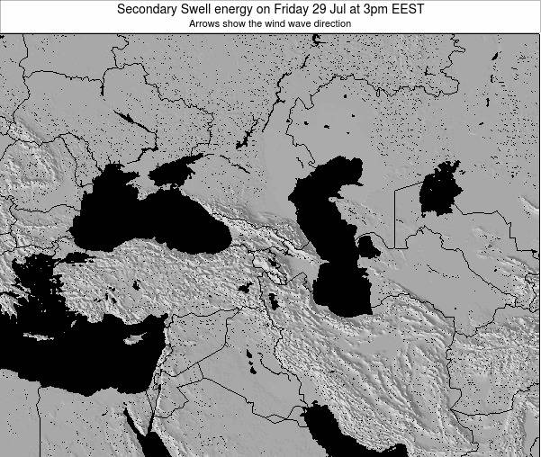 Turkey Secondary Swell energy on Wednesday 06 Aug at 9am EEST