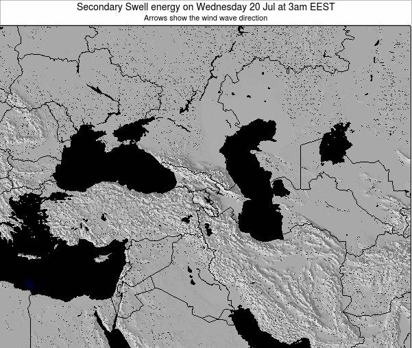 Turkey Secondary Swell energy on Wednesday 20 Feb at 2am EET map