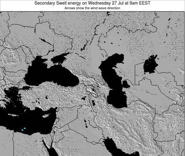 Turkey Secondary Swell energy on Friday 22 Feb at 2pm EET map
