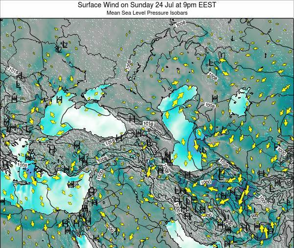 Turkey Surface Wind on Thursday 23 May at 9pm EEST