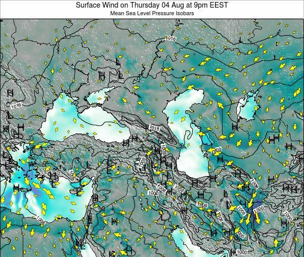 Turkey Surface Wind on Sunday 23 Jun at 9am EEST