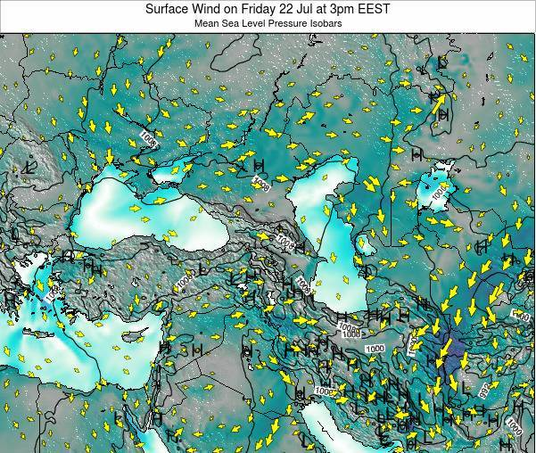 Turkey Surface Wind on Wednesday 29 May at 3pm EEST map