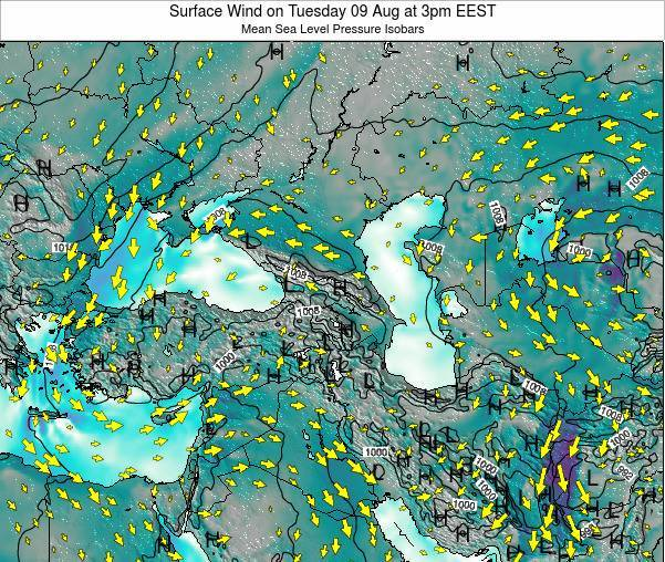 Turkey Surface Wind on Monday 27 May at 3am EEST map