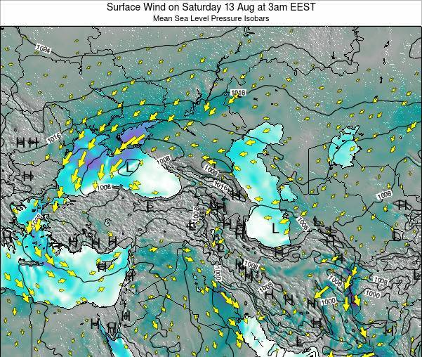 Turkey Surface Wind on Friday 31 May at 9pm EEST