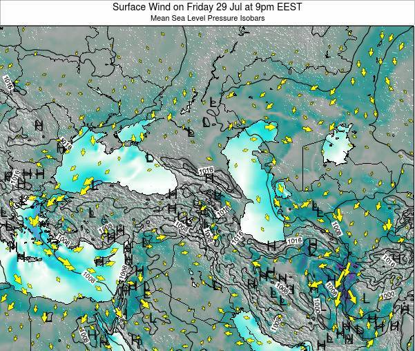 Turkey Surface Wind on Tuesday 11 Mar at 8pm EET