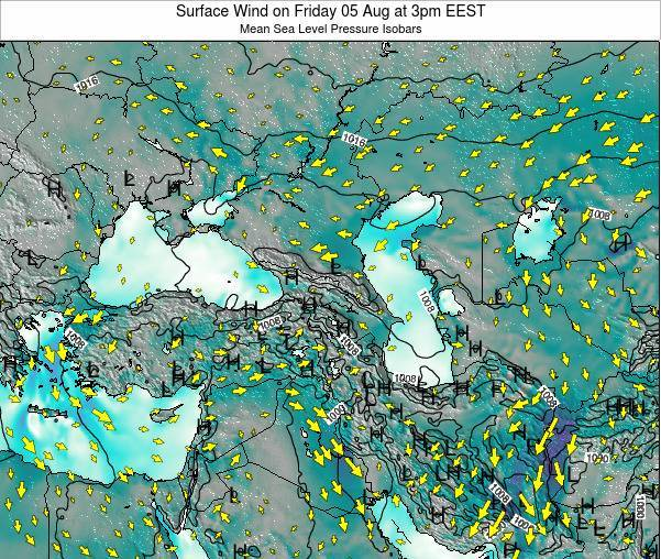 Turkey Surface Wind on Thursday 31 Jul at 3am EEST
