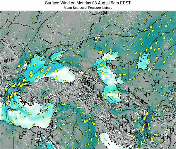 Turkey Surface Wind on Tuesday 30 Jun at 9am EEST