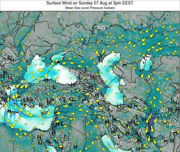 Turkey Surface Wind on Sunday 26 May at 9am EEST map