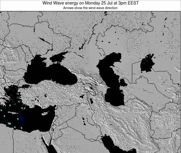 Turkey Wind Wave energy on Saturday 18 Aug at 3pm EEST map