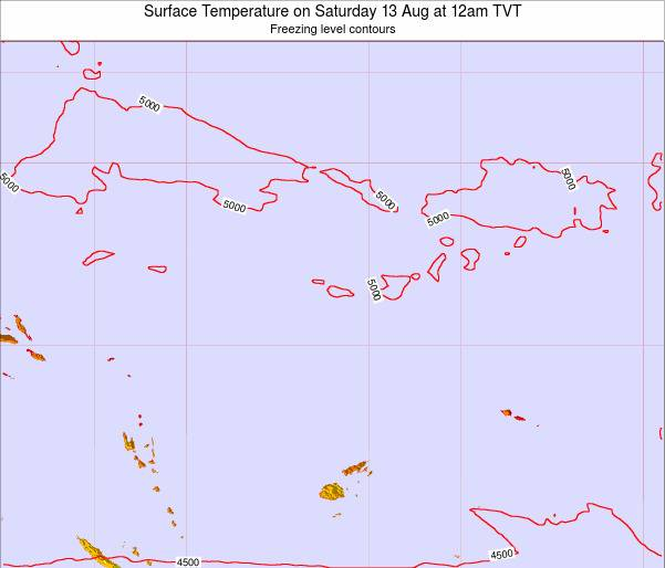 Tuvalu Surface Temperature on Tuesday 28 May at 6am TVT map