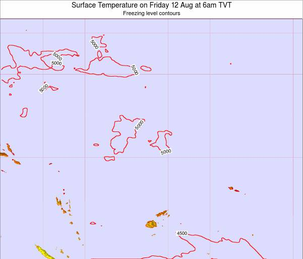Tuvalu Surface Temperature on Wednesday 29 May at 12pm TVT map