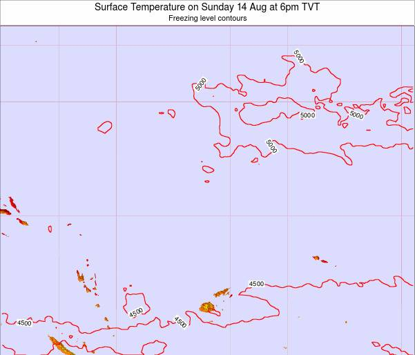 Tuvalu Surface Temperature on Friday 31 May at 12am TVT map