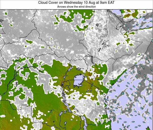 Kenya Cloud Cover on Wednesday 30 Apr at 9am EAT map