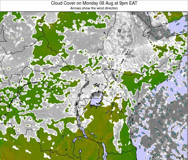 Kenya Cloud Cover on Tuesday 28 May at 9am EAT map